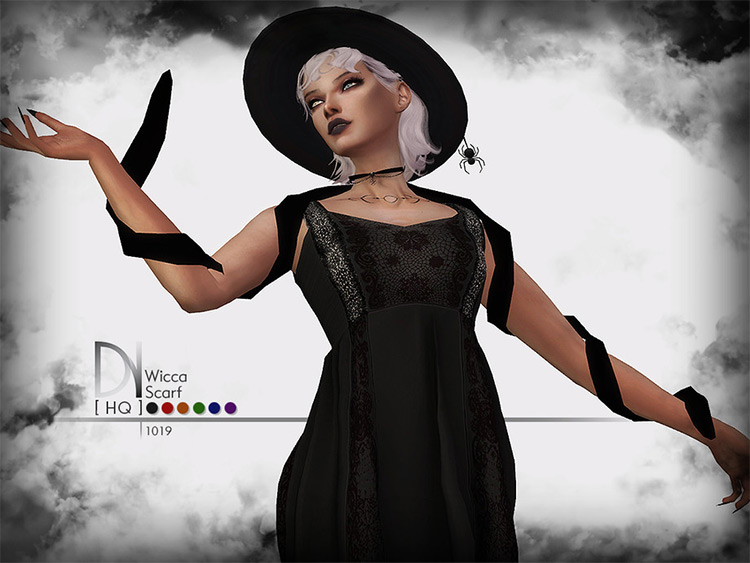 Wicca Scarf CC for The Sims 4