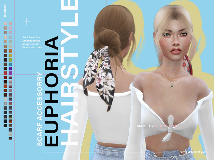 LeahLillith Euphoria Hair w/ Scarf CC