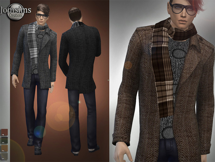Brandon Winter - Men's Scarf CC for The Sims 4