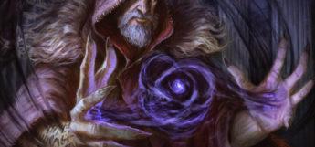 Darkness spell by wizard