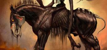 Evil phantom steed digital painting