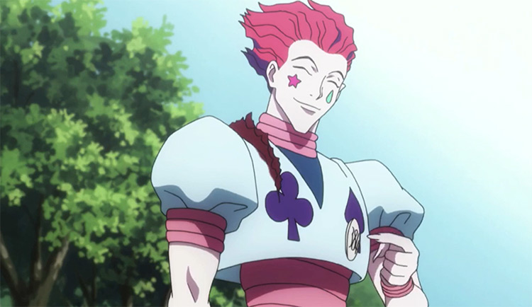 Hisoka Morow smiling in Hunter x Hunter