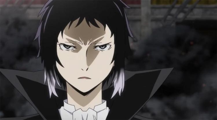 Ryuunosuke Akutagawa, black-haired edgy anime boy