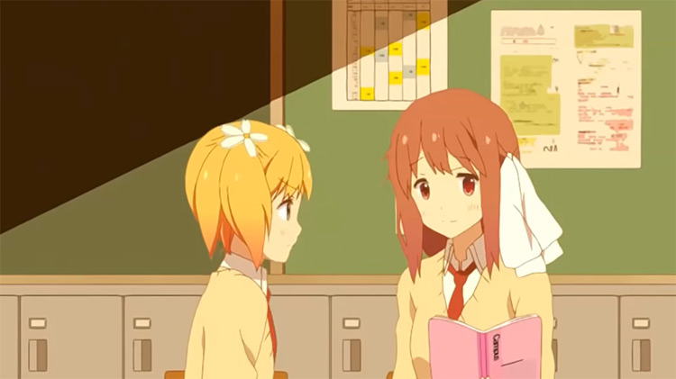 School girls in Sakura Trick Anime