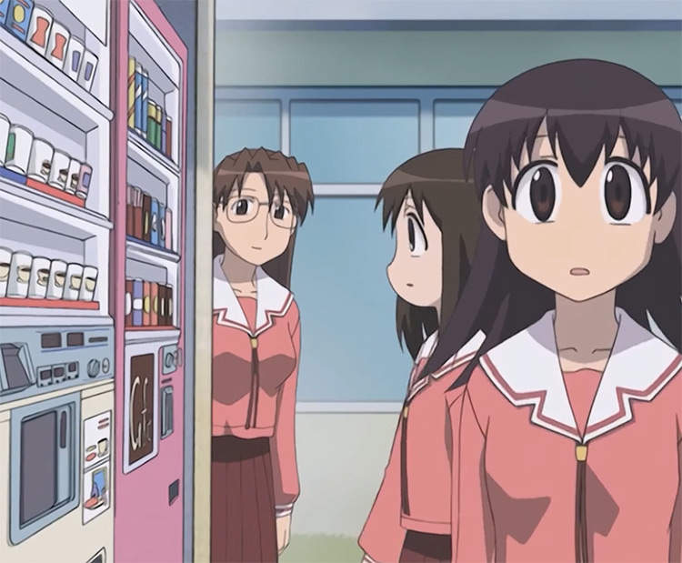Anime girls in vending machine - Azumanga Daioh