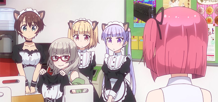 Cute girls in maid uniforms - New Game! Anime