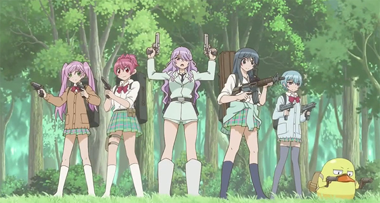 Anime girls with gun for battle - Sabage-bu! Anime