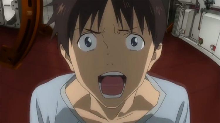 Shinji Ikari in Evangelion anime