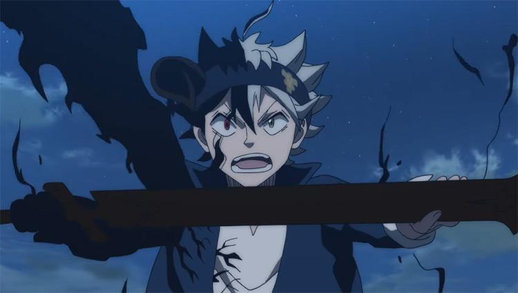 Asta holding a sword in Black Clover anime