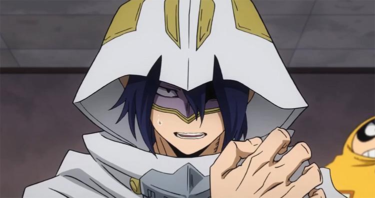 Tamaki Amajiki in white cape Boku no Hero Academia