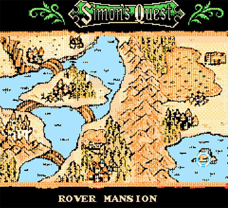 Castlevania II: Simon's Quest Re-Translation NES Game title menu