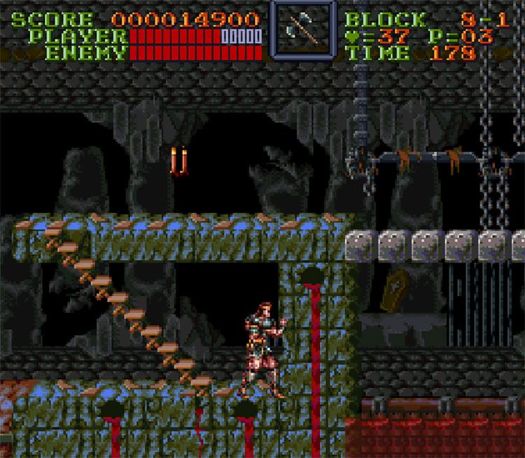 Super Castlevania IV Uncensored (SNES) Gameplay