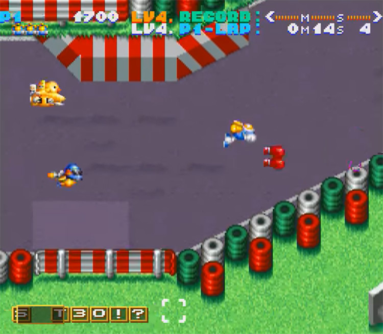 Jikkyo Oshaberi Parodius SNES game screenshot