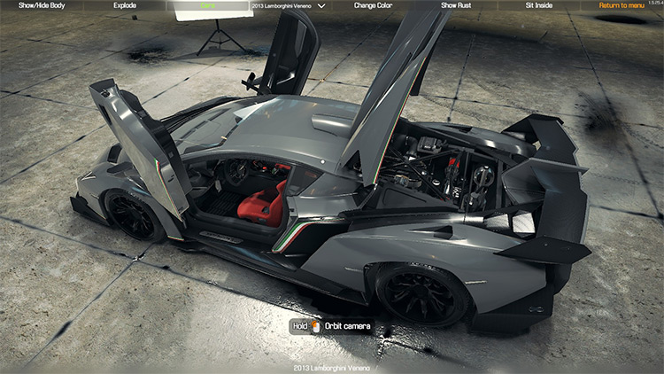 2013 Lamborghini Veneno mod for Car Mechanic Simulator 2018