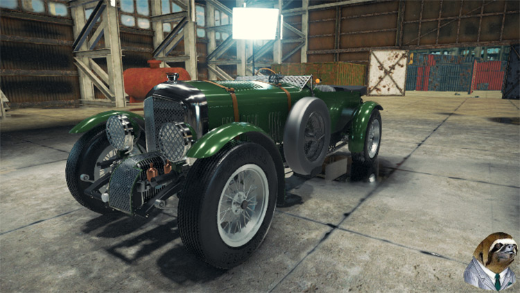 1927 Bentley 4 1/2 litre Blower Car Mechanic Simulator 2018 mod