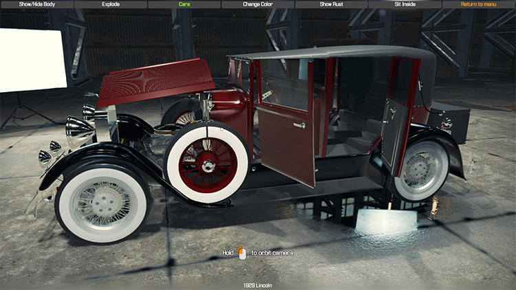 1929 Lincoln Model L mod for Car Mechanic Simulator 2018