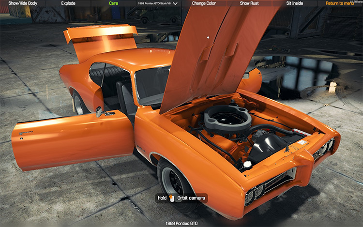 1969 Pontiac GTO THE JUDGE Car Mechanic Simulator 2018 mod