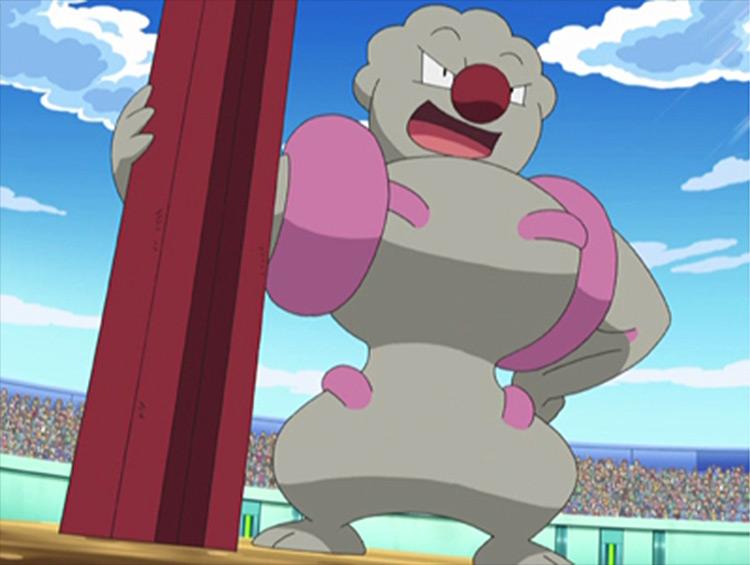 Gurdurr Pokémon anime screenshot