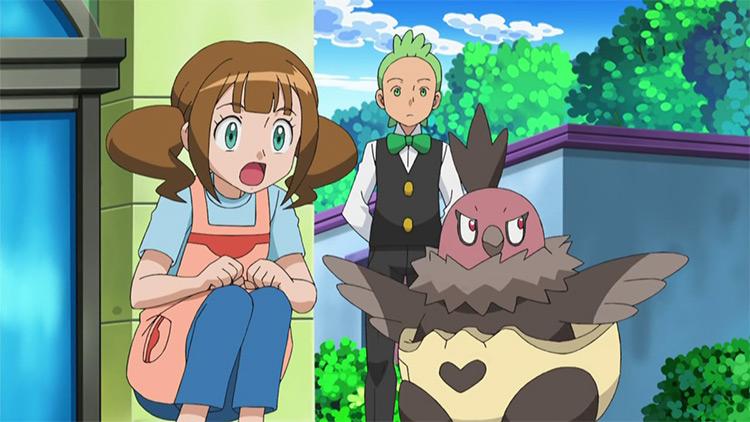 Vullaby Pokémon anime screenshot