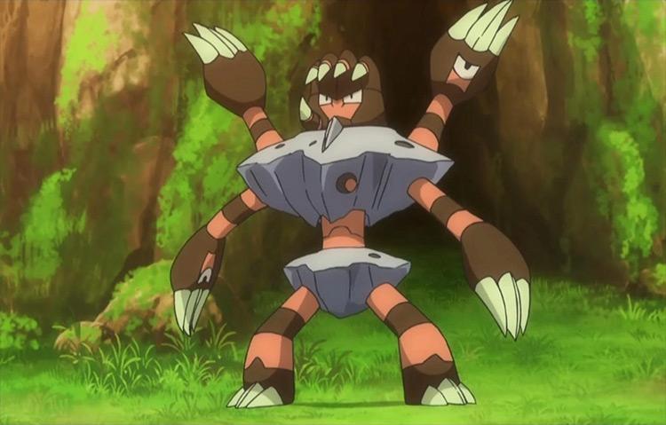 Barbaracle from Pokémon anime