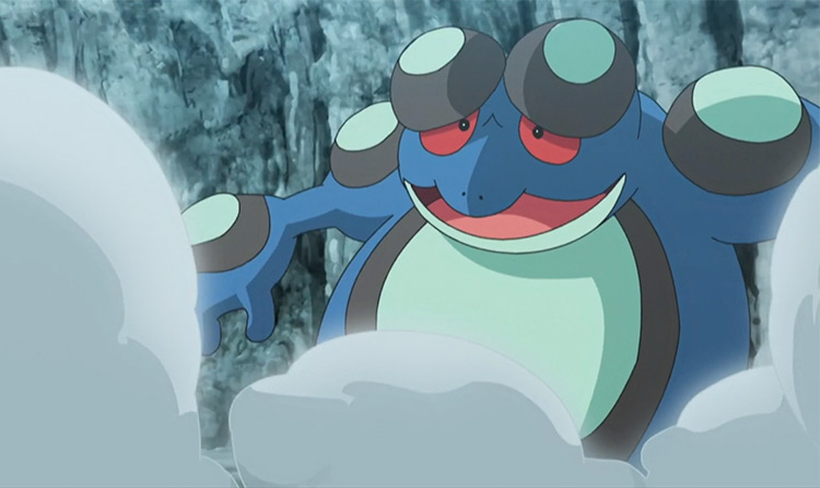 Seismitoad from Pokémon anime
