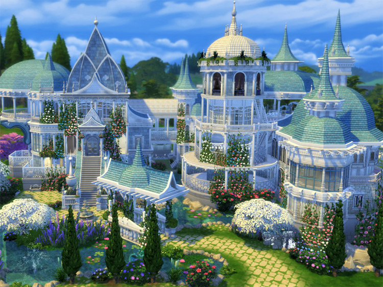 Elven Castle Sims 4 CC screenshot