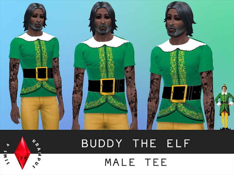 Buddy The Elf Shirt CC for Sims 4