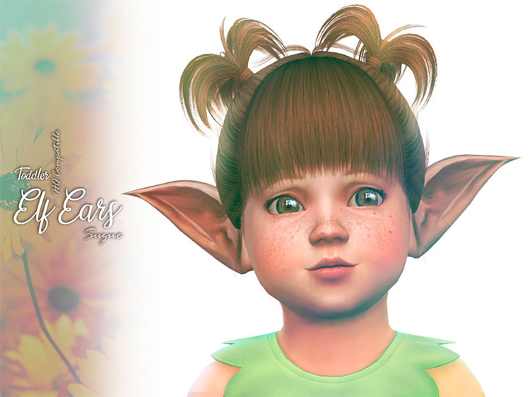 Toddler Elf Ears CC for Sims 4