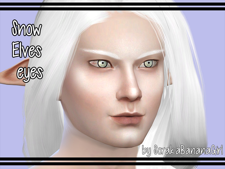 Snow Elf Eyes Sims 4 CC