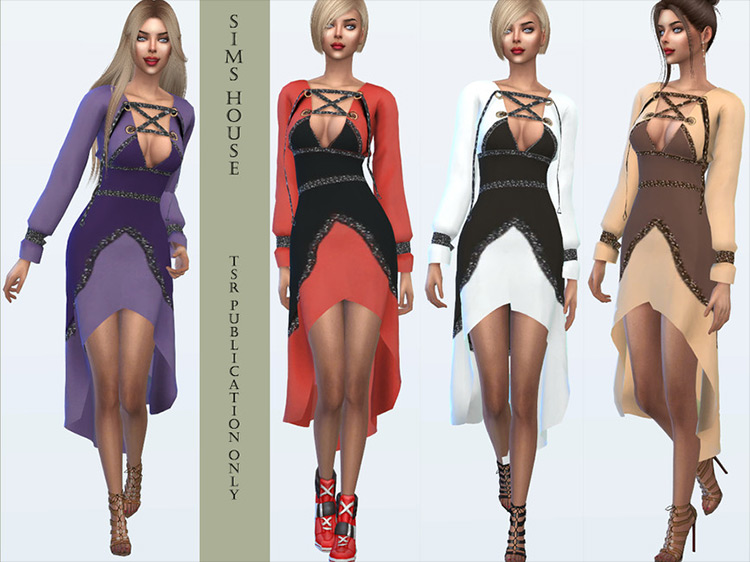 Elf Dress CC for Sims 4