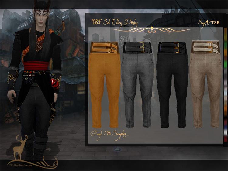 Elven Dogun Pants CC for Sims 4