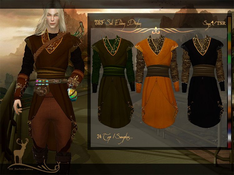 Elven Dogun Coat Sims 4 CC screenshot