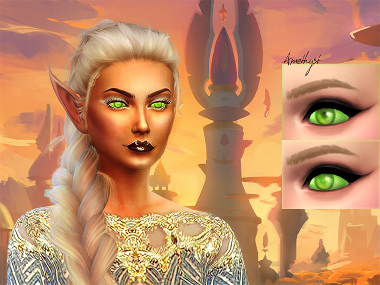 Blood Elf Eyes CC for Sims 4