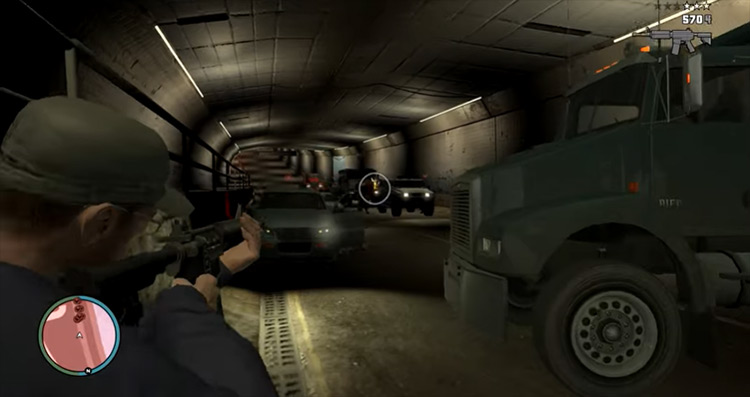 Tunnel of Death GTA 4 mission screenshot