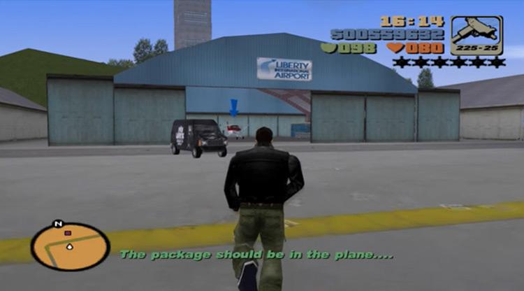 Grand Theft Aero mission screenshot