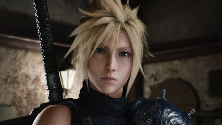 Cloud Strife in FFVII HD screenshot