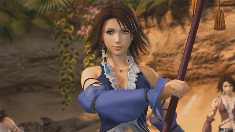 Yuna from FF10 screenshot