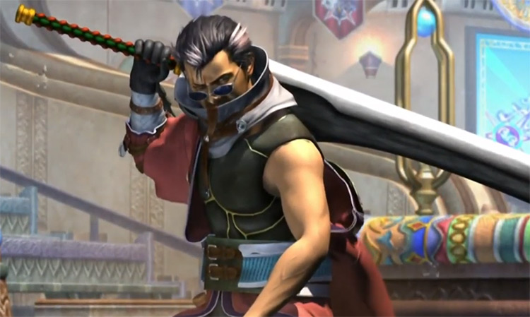 Auron from FFX HD screenshot