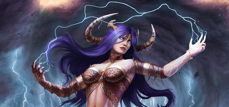 Lightning Sorceress painting by captdiablo
