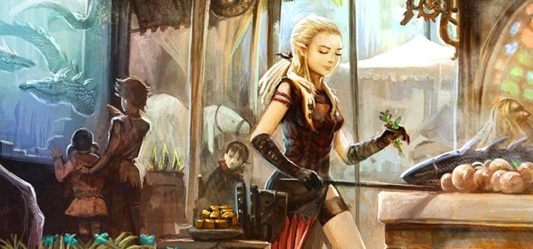 Water-Dragons girl digital painting by David Revoy