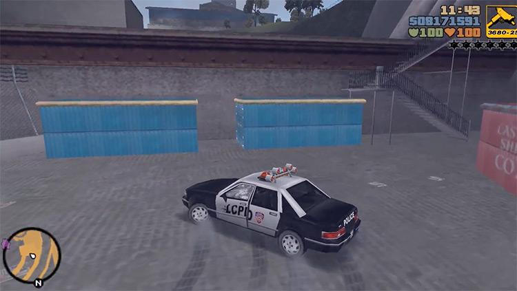 Police Car GTA3 Car screenshot