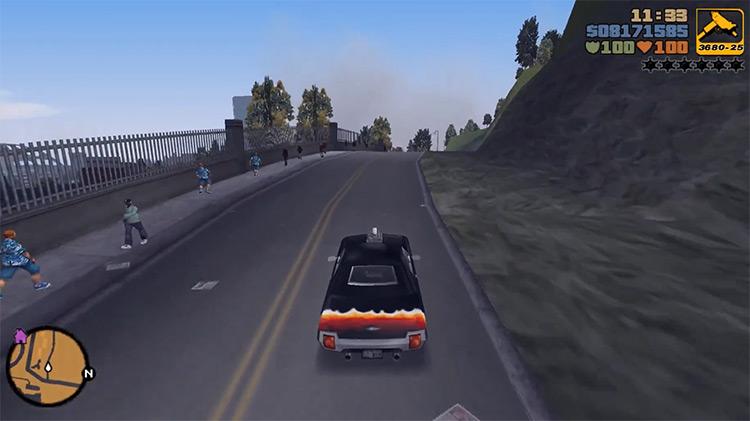 Diablo Stallion GTA3 Car screenshot