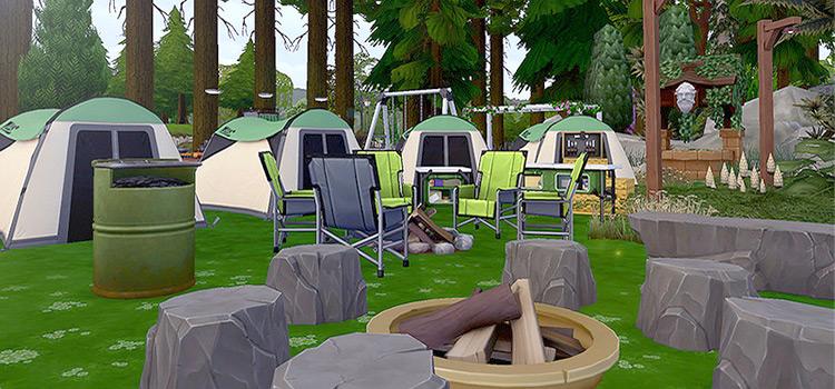 Ozone Campsite Lot CC for TS4