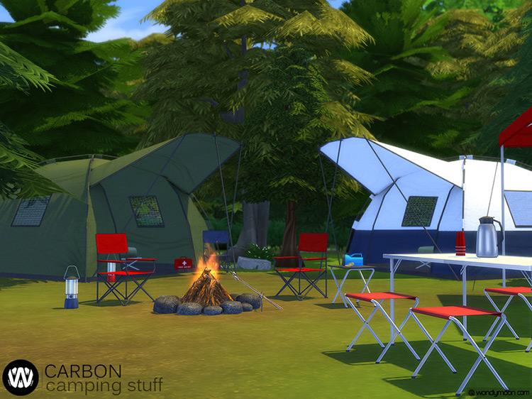 Carbon Camping Stuff Sims 4 Camping Mod screenshot