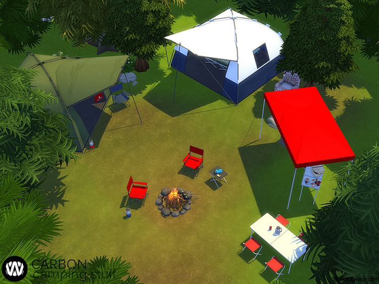 Carbon Camping Stuff – Part II Sims 4 Camping Mod