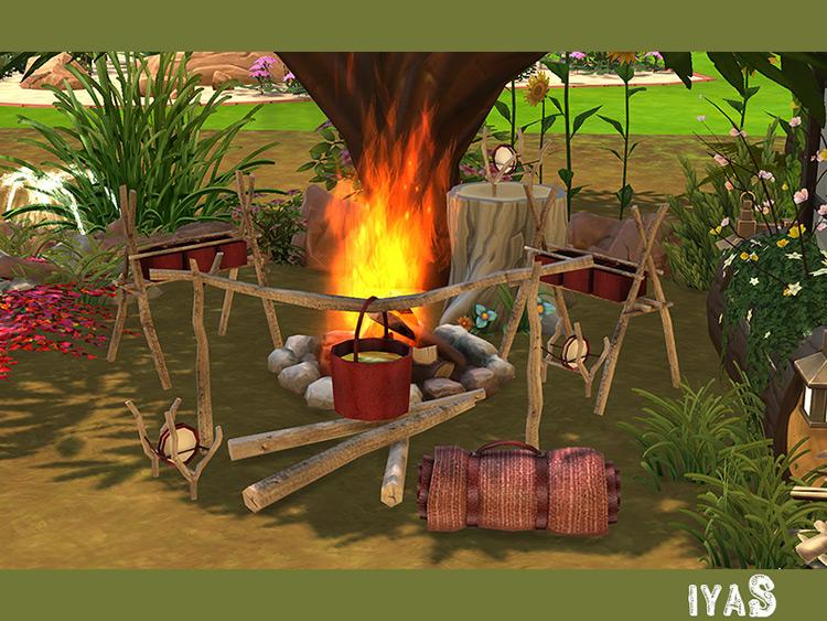 Camping Set Sims 4 Mod screenshot