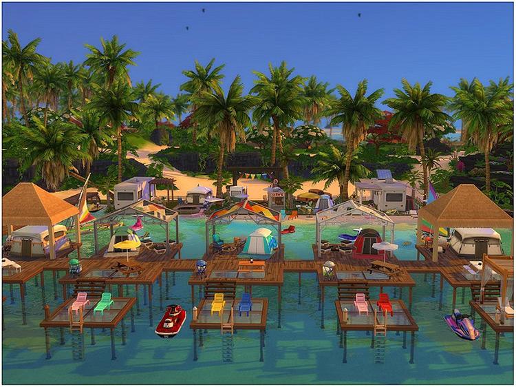 Open Sea Camping Sims 4 Mod screenshot