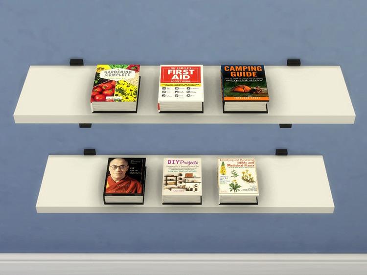 Books in Literate Sims Mega Book Set 4 Mod