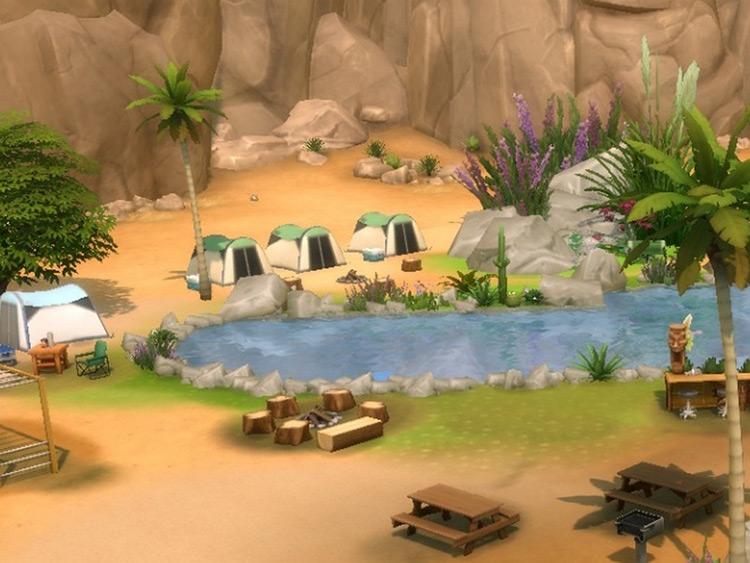 Desert Lake National Park Sims 4 Camping Mod screenshot