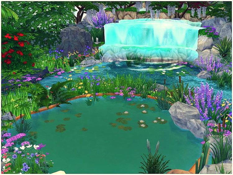 Waterfall Park Sims 4 Mod screenshot